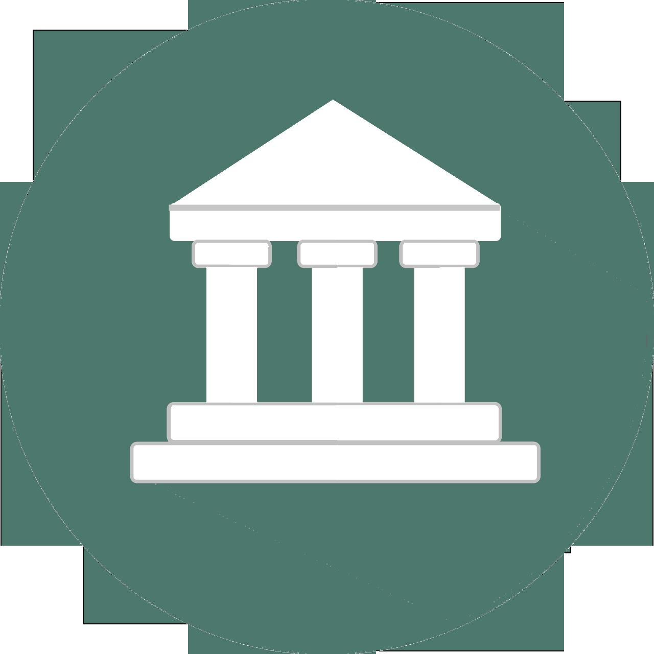Grafik eines Gerichtsgebäudes